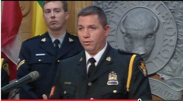 Det. Sgt. Darren Parisien speaking to media about Operation Snapshot