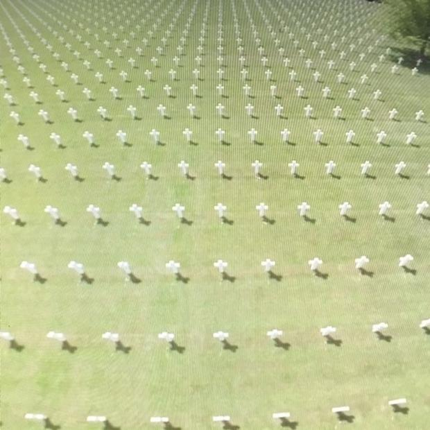 Overview of the more than 5 000 graves at Epinal in France.