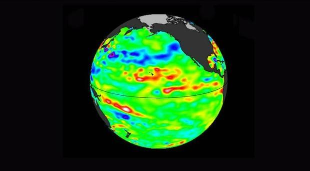 Data collected Feb. 28 – March 12  2017  by the U.S./European Jason-3 satellite show near-normal o...