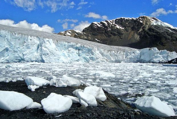 Pastoruri glacier  along with more than 700 other Peruvian glaciers  is disappearing. Actually  you ...