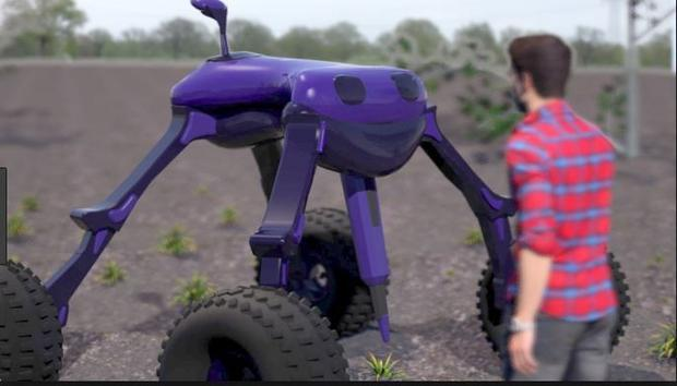 Meet  Dick   one of the three robots taking care of crops.