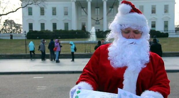 Santa Claus got arrested for asking Obama for a higher minimum wage.
