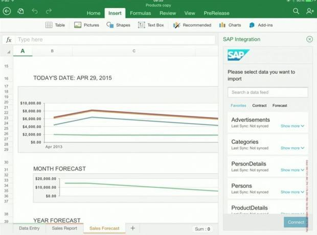 Apps for Office will look the same regardless of platform